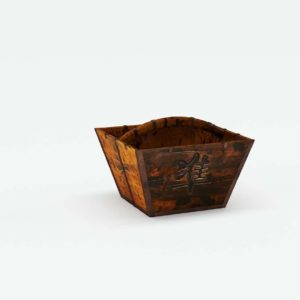 Antique Wooden Basket Horchow