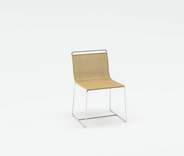 3D Chair Williams Sonoma Metal and Rattan