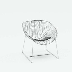 3D Chair CB2 Black Leather Cushion
