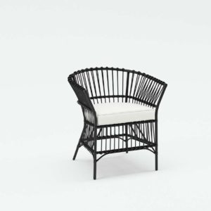 Allegra Woven Chair Rattan Brushed Canvas Natural