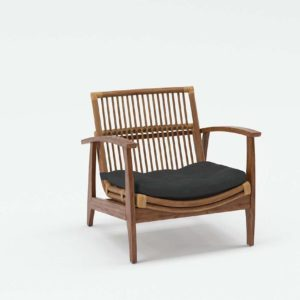 3D Lounge Chair with Pillow CB2 Noelie