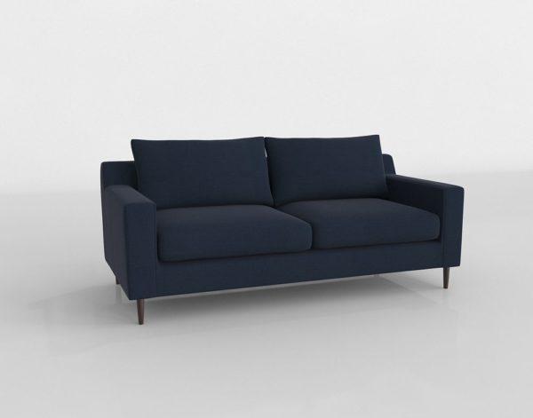 Sofá 3D Biplaza Interior Define Sloan Marino