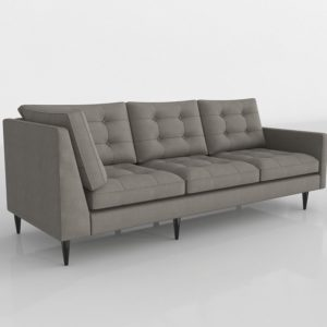 Petrie Midcentury Right Arm Corner Sofa Crate And Barrel