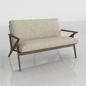Sofá 3D Biplaza C&B Cavett
