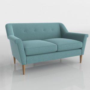Sofá 3D Biplaza West Elm Finn