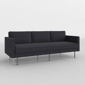 3D Sofa WestElm Axel in Black