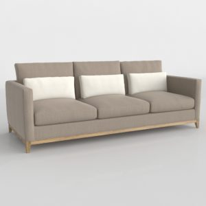 3D Sofa Crate&Barrel Taraval Gray