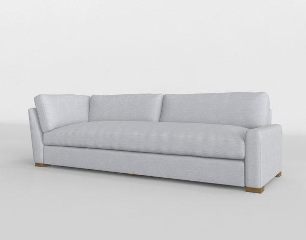 Sofá 3D R&H Maxwell con Brazo Izquierdo