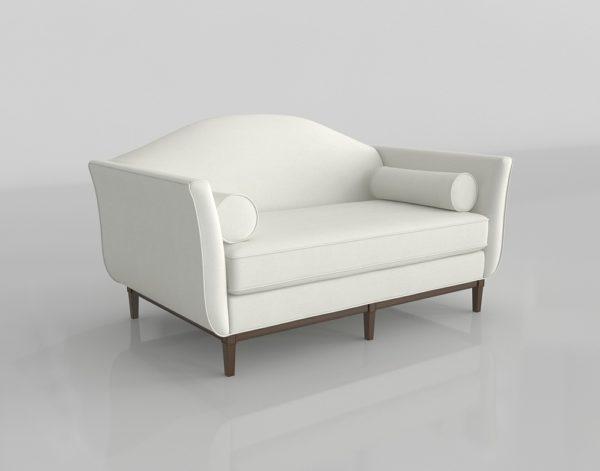 Sofá 3D Biplaza Audrey Ethan Allen