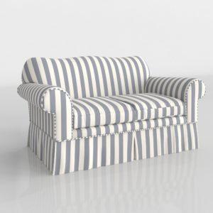 Sofá 3D Biplaza P&H con Funda