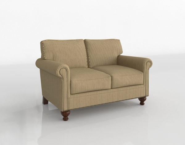Sofá 3D Biplaza Broyhill Harrison