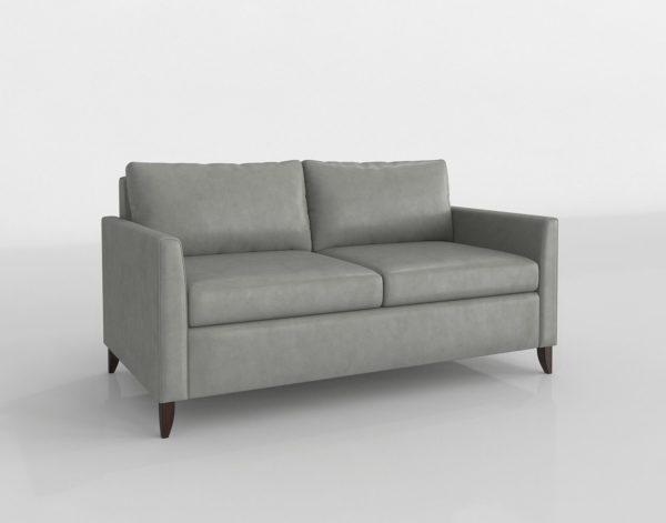 Sofá 3D Biplaza American Leather Toray