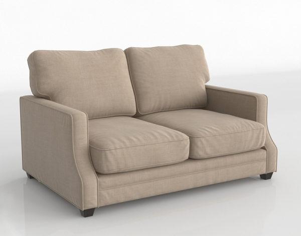 Sofá 3D Biplaza Living Spaces Beige