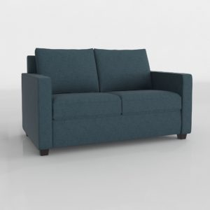 Sofá 3D West Elm Henry Basic Twin