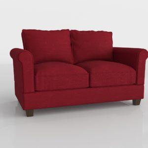 Sofá 3D City Sofa Simpli Rojo