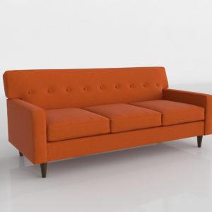 Sofá 3D R&H Clare Naranja