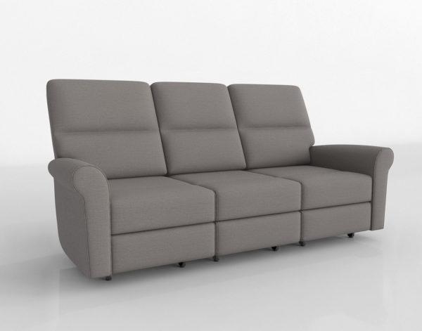 Sofá 3D Reclinable Bassett Bedford