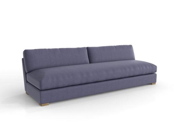 Sofá 3D Maxwell Tapizado sin Brazos