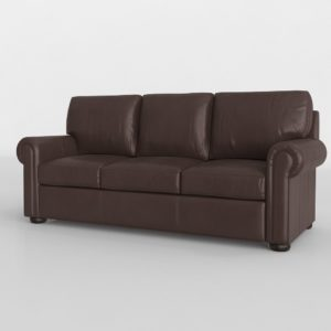 Valdosta Walnut Leather Sofa Rooms To Go