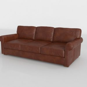 Power Leather Sofa 3 Seats