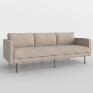 Axel Sofa Velvet West Elm
