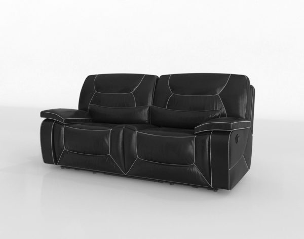 Sofá 3D Biplaza Reclinable Overstock Frasien
