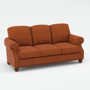 Sofá 3D La Fábrica Clásico Naranja