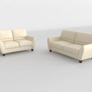 Conjunto de Sofás 3D R&H Sofá y Biplaza