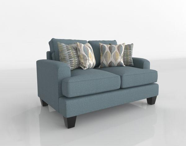 Sofá 3D Biplaza R&F Aqua Mocha