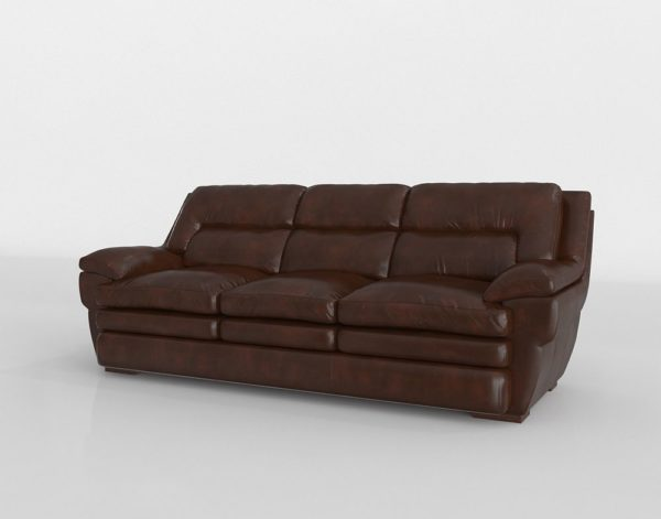 Sofá 3D Levin Furniture Loren en Cuero
