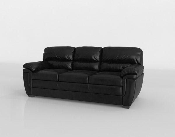 Sofá 3D PB Fenmore en Cuero