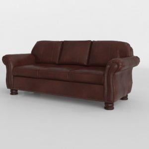 Sofá 3D Vintage en Cuero