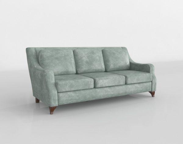 Sofá 3D Star Furniture Lake en Cuero