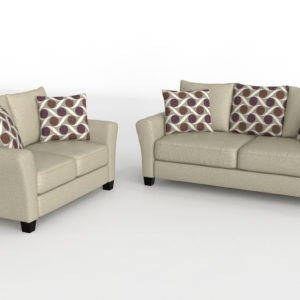 Trinsic Pebble Sofa andLoveseat Set Daniels Home Center