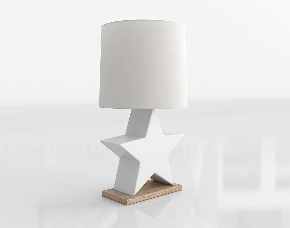 Star Table Lamp Nursery Accessories