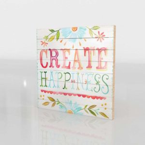 Katie Daisy Happiness Watercolor Art Nursery Wall Decor