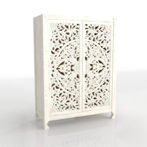 White Lombok Armoire 3D Model