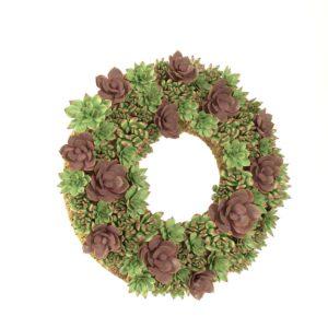 Corona de Flores 3D Suculentas