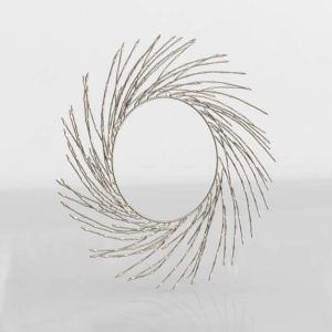 Athena Silver Wreath CB2 Xmas Decor