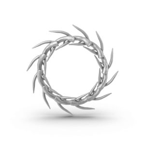 Donner Silver Antler Wreath CB2 Xmas Decor