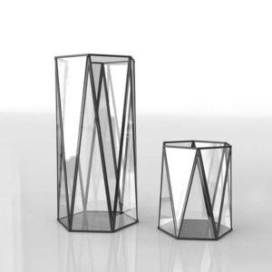 Portavelas 3D Cristal CB2 Xmas Set de 2
