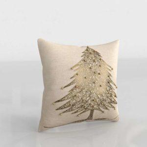 Xmas Tree Pillow 3D Model