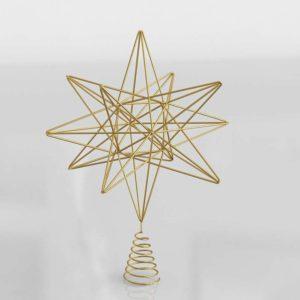 Modelo 3D Decoración Navideña 3D Estrella Árbol