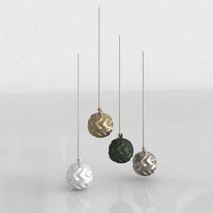 Modelo 3D Decoración de Navidad 3D Bolas
