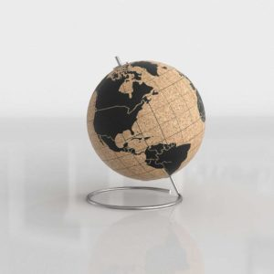 Cork World Globe 3D Model