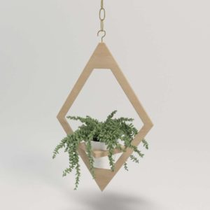 Jungalow Hanging Planter 3D Model