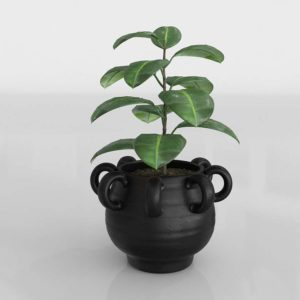 Loop Black Planter 3D Model