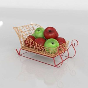Sleigh Fruit XMas 3D Model