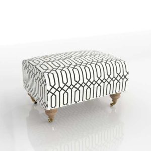 Trells Woven Willoughby Ottoman Anthropologie