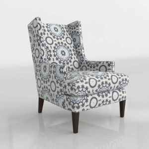 Luxe Wingback Chair Crate&Barrel